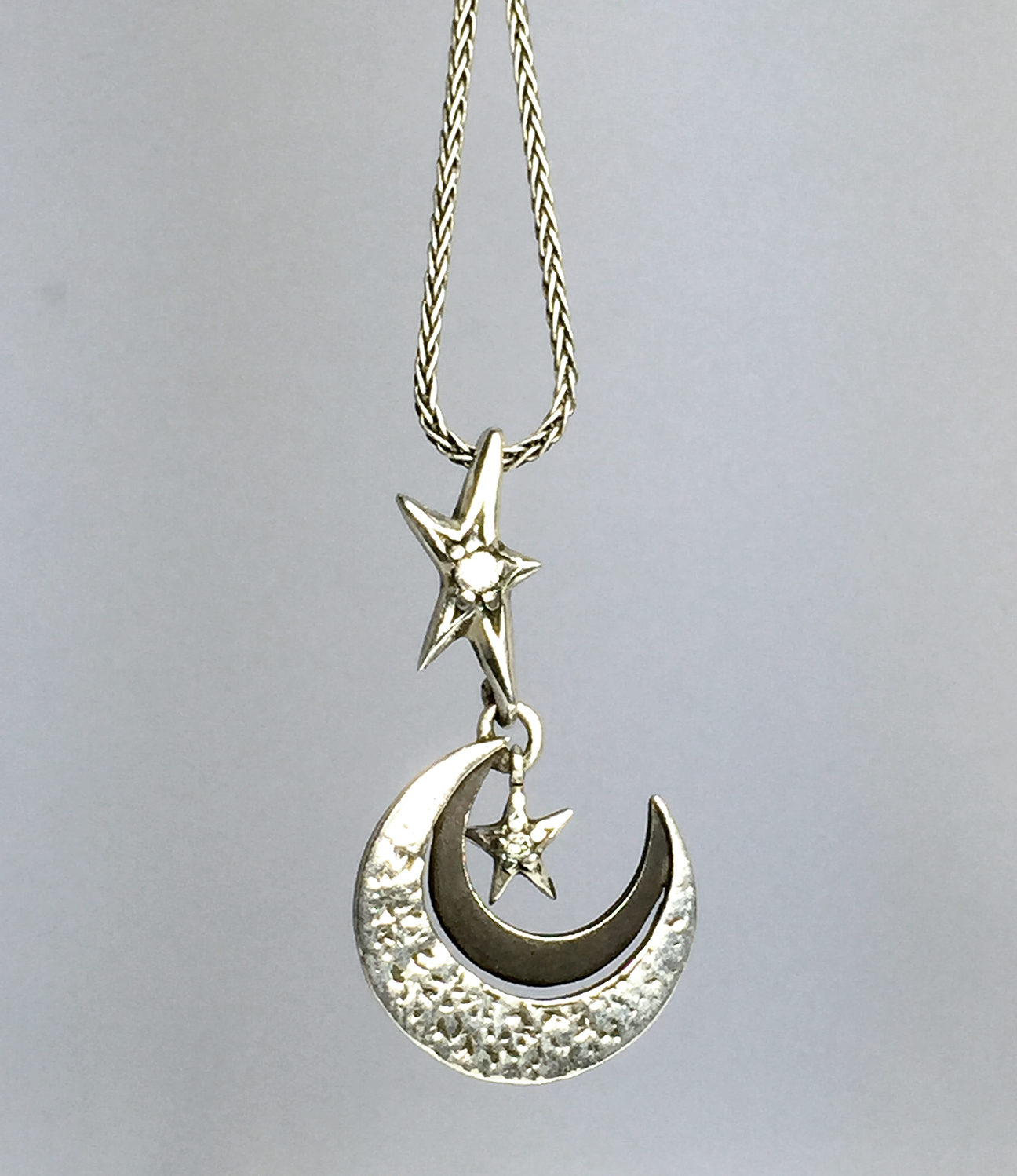 pendant amrita moon product beaded nkc singh necklace gunmetal jewelry crescent shop